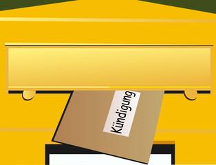 Briefkasten – gelb