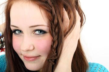 charmante junge Frau