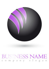 Business logo 3D purple sphere design