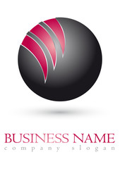 Business logo 3D red sphere desigrn
