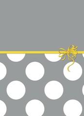 Polka Dots - Ribbon and Bow - Gray, White, Yellow