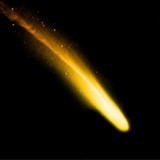 Comet on the black background. Vector