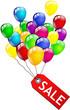 Luftballon Sale Schild