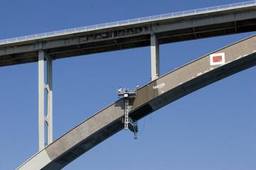 Renewing arch of Krk bridge in Croatia