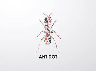 Ant dot, art vector format