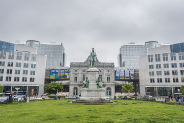 The Place du Luxembourg in Brussels, Belgium.