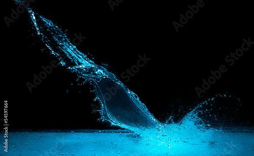 Blue Water Splash © Casther