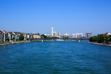 The Rhine in Basel, Switzerland
