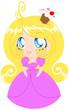 Blond Cupcake Princess In Pink Dress