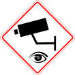 Strassenschild Überwachung Kamera Sicherheit