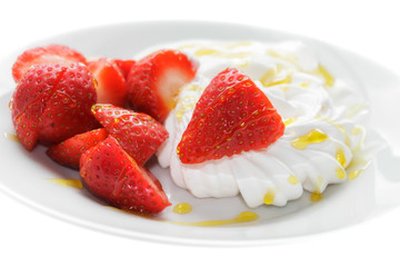 Meringue and Strawberry