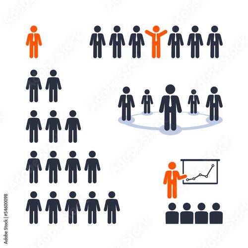 Business people. Team, presentation, business tree network/