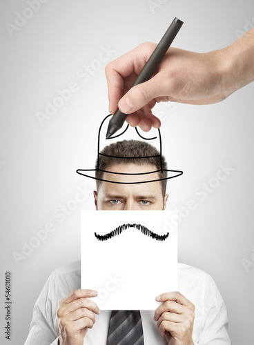 hand drawing hat