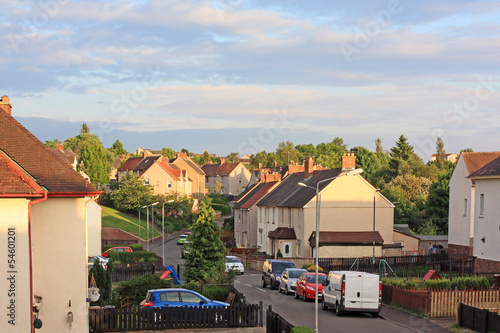 British street with social housing