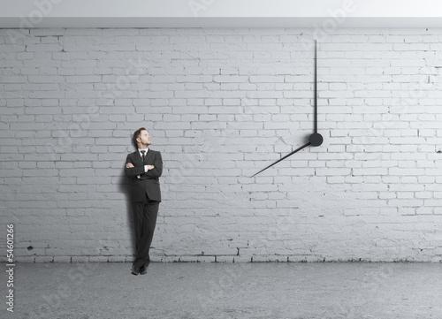 clock in wall