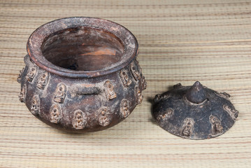 Ancient Amulet on Baked Clay Pot, since 1813