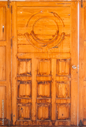 Old Stain Wood Door