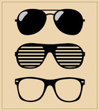 set of sunglasses. vector illustration background