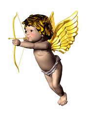 eros cupid with bow and arrow