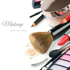 Colorful makeup products
