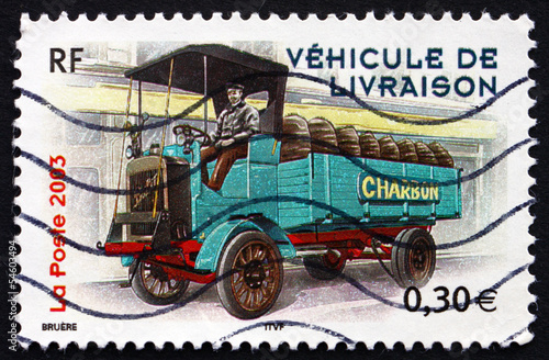 Postage stamp France 2003 1910 Berliet 22hp Type M Delivery Truc