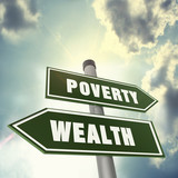 Direction of wealth or poverty poster