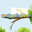 Colorful birds vector background