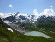 canvas print picture - Gletscher mit See