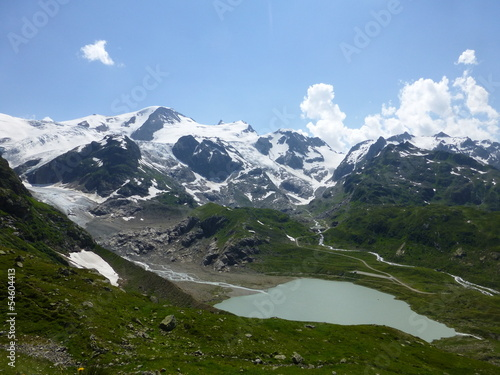 canvas print picture Gletscher mit See