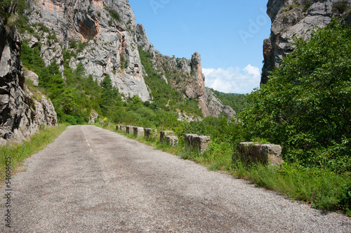 Mountain road.Congost del Collegats