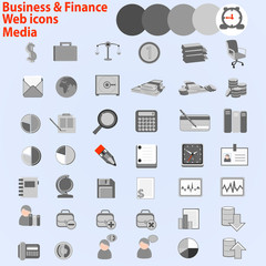 Large set of web icons. Business, Finance Media,