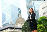 Business woman confident outdoor in Hong Kong