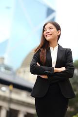 Businesswoman confident outdoor in Hong Kong