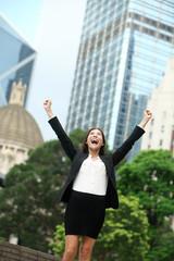 Business achievements success businesswoman