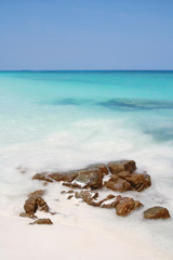 beach and stone, Tachai island, Similan island group, Phang nga,