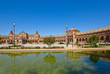Plaza de España and pond , Seville, Spain