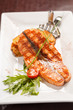 salmon steak with potatoes