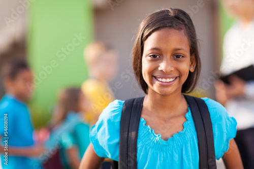 indian elementary schoolgirl