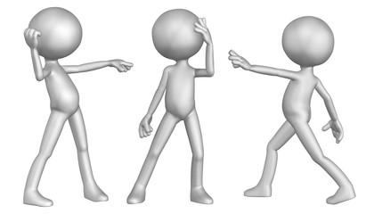 Anonymes Männchen in verschiedenen Posen 4