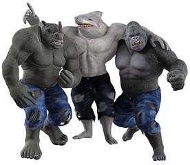 Nashorn, Hai und Gorilla - Gefahr im Dreierpack