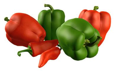 Gemüse-Sammlung / Paprika, Chili