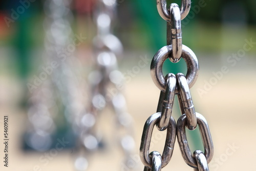 steel metal chain links segment