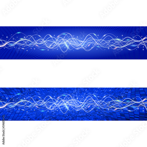 "Flying wave backgrounds. The blue version. Variant ""B"". EPS-10"