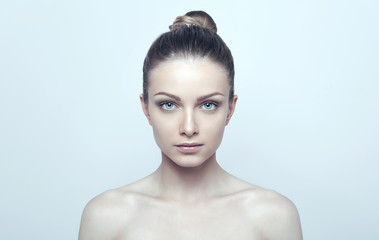 Beautiful portrait of young natural girl