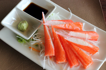 Crab stick, ready to eat japanese food
