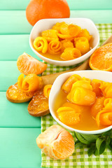Orange jam with zest and tangerines