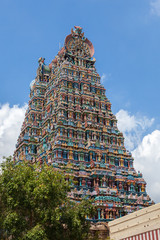 Gopurams of the Meenakshi temple