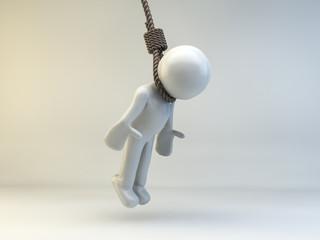3D man hanging
