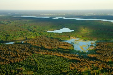 Masurische Seenplatte aus der Luft