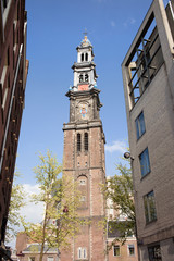 Westerkerk Tower in Amsterdam